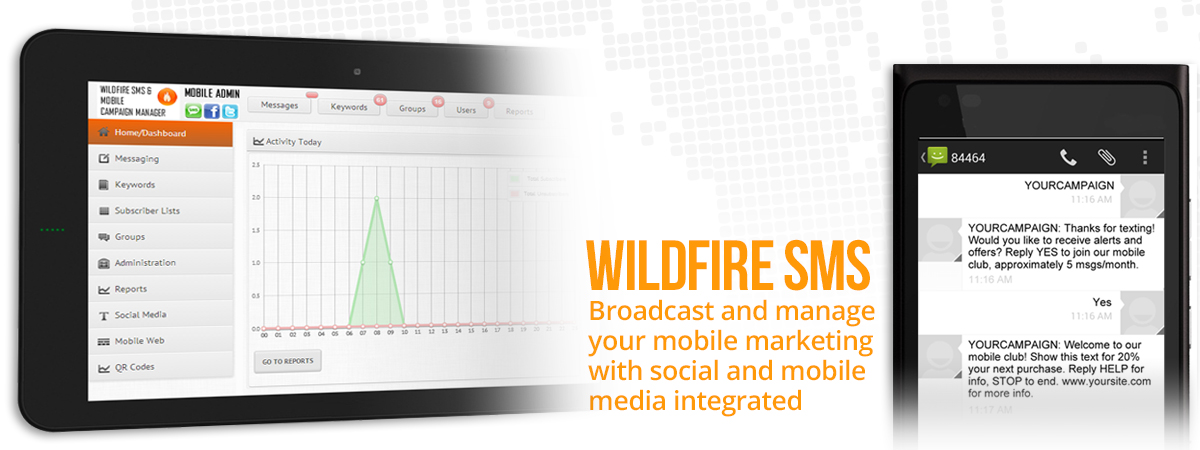 Wildfire SMS - Broadcast and manage your mobile marketing with social and mobile media integrated
